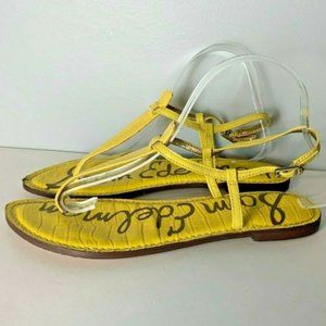 Sam Edelman Gigi Thong Sandals Size 9 M Yellow